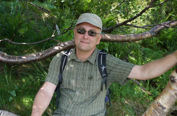 Prof. G. Kozlowski in Karkonoski National Park