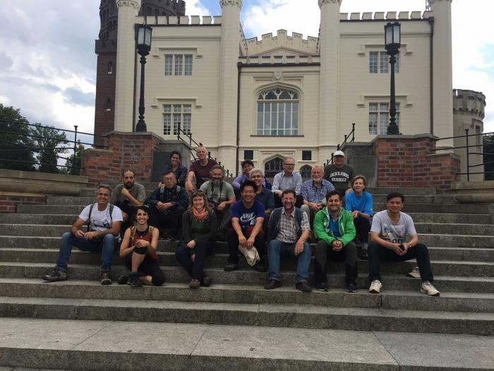 Participants in front of the Kornik castle