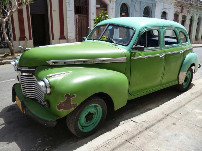 An old Chevrolet in the Streets of Havana, Cuba.
