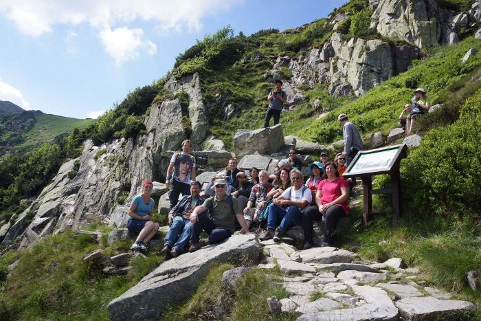 Participants in Karkonoski National Park